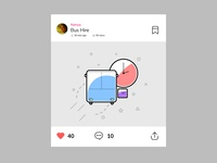 Dribbble Post View