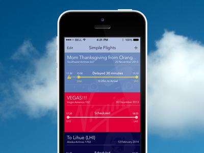 Simple Flights Detail flight status delay airline airport ios7
