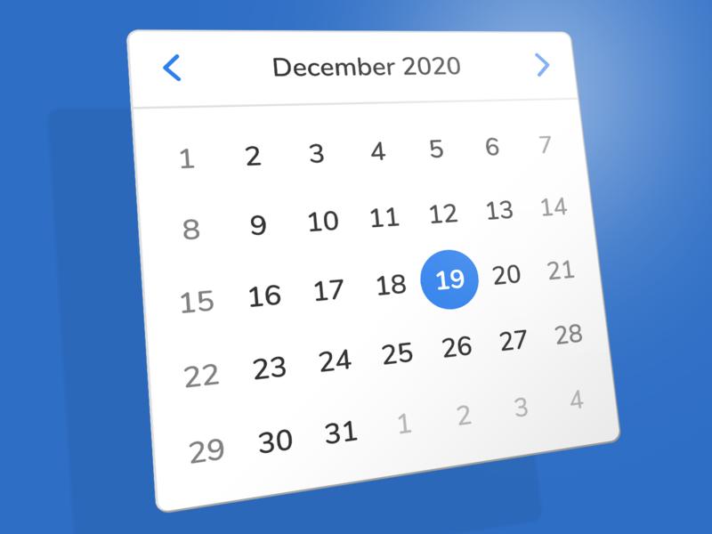 Holtaway Design Library: Calendar Picker saas ui library system design system