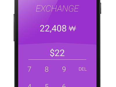 Exchange exchange rate converter convert android material flat launcher