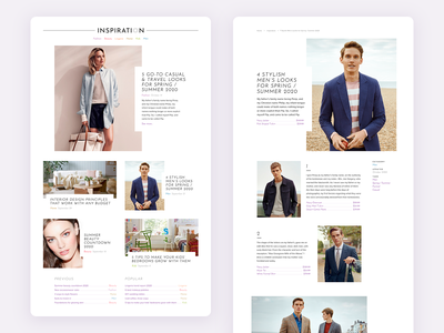 Department store blog client work web debut grid typogaphy design blog