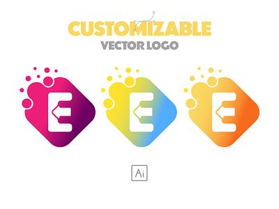 Customizable vector brand logo design illustration logotype logo mark logos design brand custom vector vector logo customizable logo