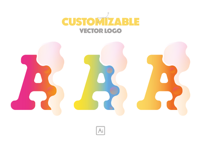 Customizable vector brand logo design A Letter symbols logo maker colorful affinitydesigner logotypedesign logoset customize typography letter branding design branding vectorart design graphicdesign logotype vectors logosai logos logo design