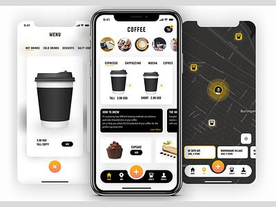 Coffee App UI Kits uiux order online order concept graphic design branding drink coffee ios mobile app app design ux ui