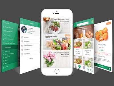 Bolbol Mobile App   Re-design graphic design redesign ui design ux design design organic food food app mobile app app ios ux ui