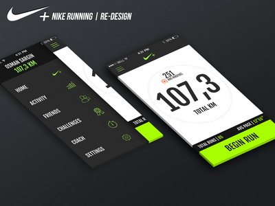 Nike+ Running | Re-design