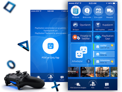 PlayStation App UI - ReDesign