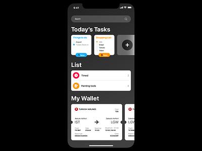 Reminders App Design design mobile app toolkit wallets ux ui ui kit app ios reminders