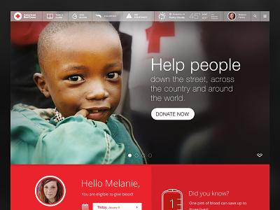 Redcross red cross homepage website ui