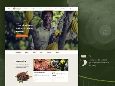 World Cocoa Foundation Concept data visualization navigation web design homepage webdesign website