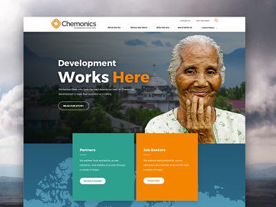 Chemonics Homepage web website navigation ui homepage web design