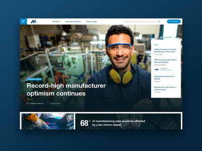 National Association of Manufacturers Homepage web website ui homepage web design association