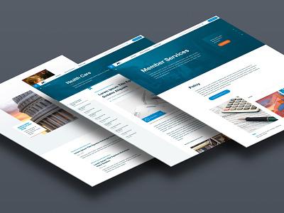 Nam Interiors layouts content stream web design