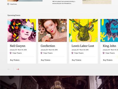 Folger Shakespeare Library Exploration web design website ui homepage web design