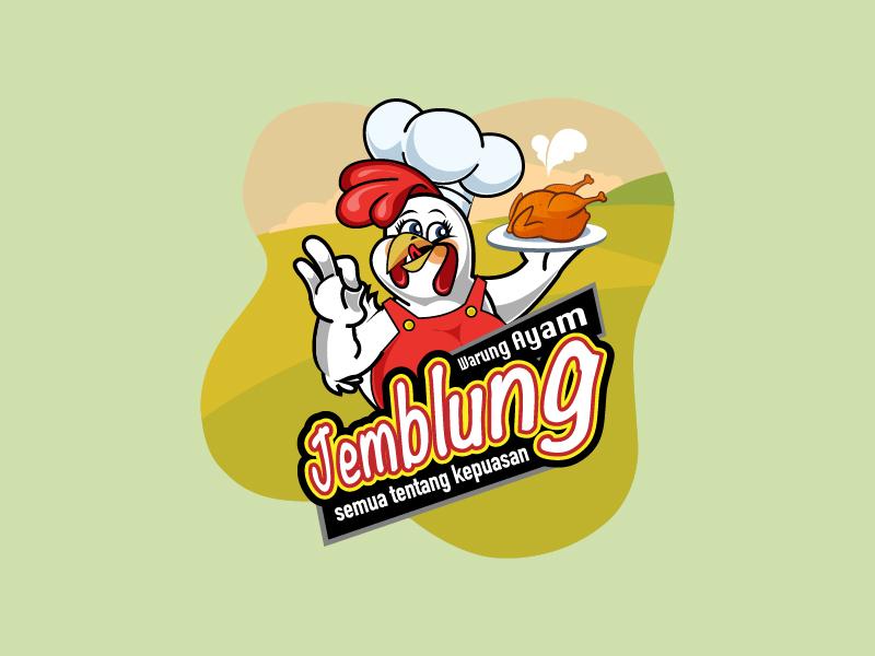 Warung Ayam Jemblung - Chicken Logo jemblung ayam warung hot delicious food chicken logo chicken logo