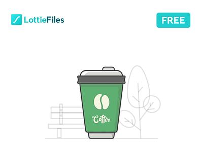 Coffee Lottie Animation freebie free lottiefiles lottie json flat download illustration gif animation design animation starbucks coffee cup coffee