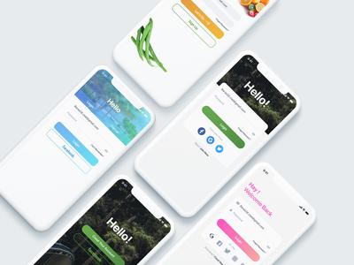 Login pages UI Concept