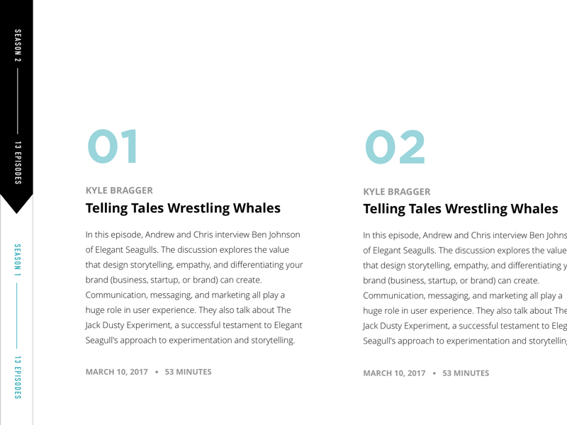 Seaworthy Podcast Website Concept - 03 website site redesign podcast concept