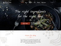 Restaurant - Free PSD for Restaurants and Cafes