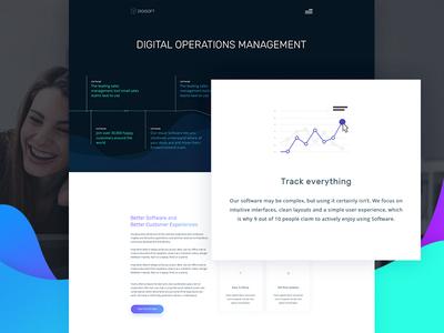 Digital Software Management design modern 2017 template corporate free agency software digital