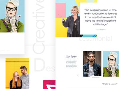 Personal landing page design homepage landing templates testimonials ui web webdesign website
