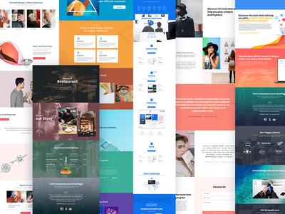 Fullscreen Website branding psd modern blog creative illustration website responsive template agency
