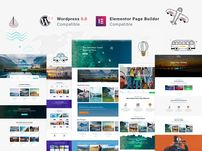 Tour & Travel Agency WordPress Theme vacation trip travel agency travel tourism tour operator tour resort reservation hotel holiday booking bed and breakfast adventure accommodation
