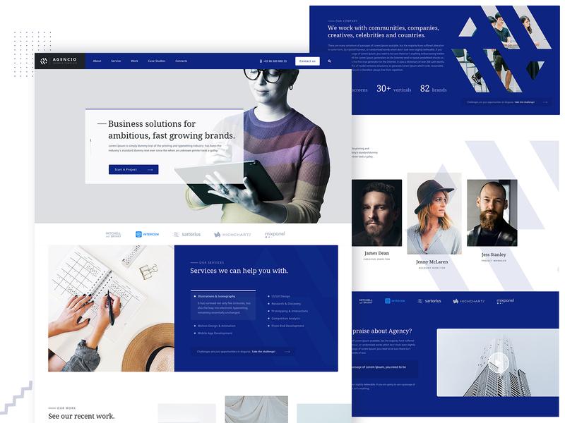 Agency Website Design branding illustration design business psd responsive creative website template agency