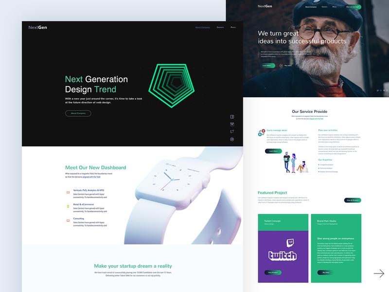 Agency - Landing Page branding modern illustration design corporate responsive creative website template agency