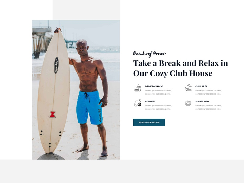 WidgetKit - Surfing School design illustration responsive blog website template agency education website corporate design personal website web design creative design surfing school