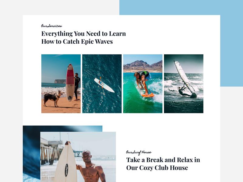 Surfing School gallery personal branding surfing creative agency web design