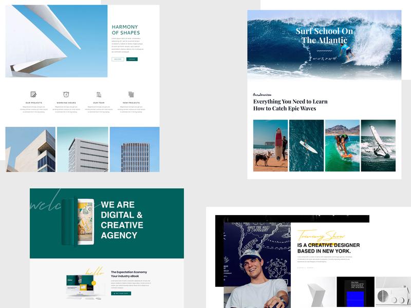 Landing Page Collection landing page design psd illustration template agency portfolio design creative design website design landing page