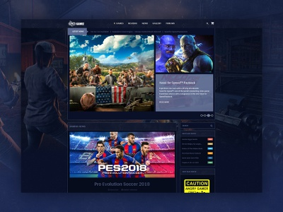 Review Theme For Games, Movies And Music agency branding responsive website creative template dark theme website design landing page game website