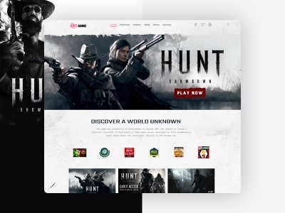 The Hunt : Landing Page branding blog template corporate responsive website agency graphic design website design landing page game website