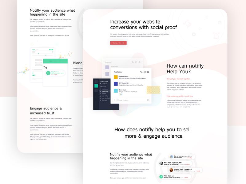 Notifly - Website Conversions branding corporate template creative website design illustration agency website design landing page