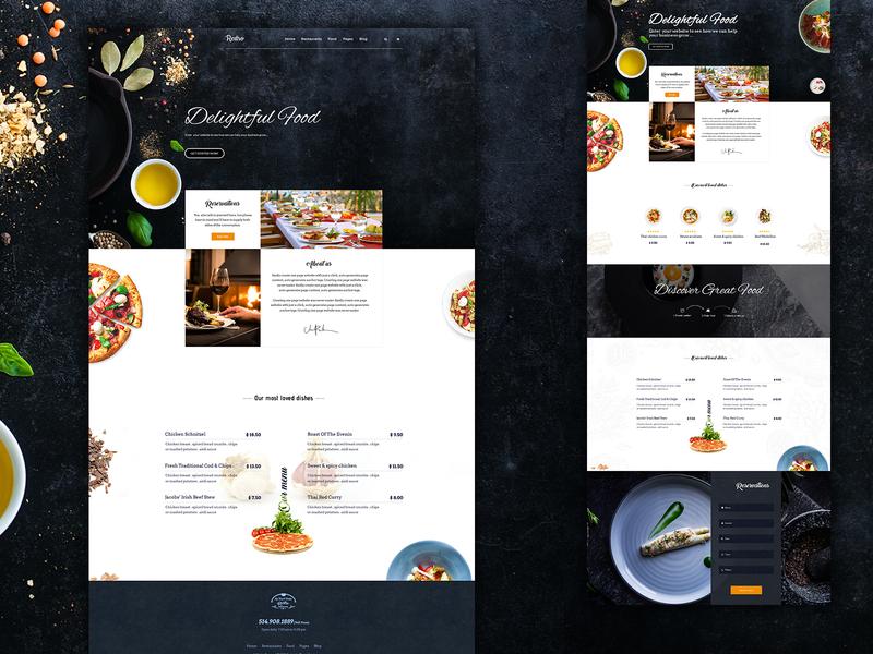 Restaurant Landing Page restaurant website template restaurant app landing page restaurant website restaurant landing page