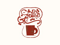 tea cup with arabic typography (Drink tea)