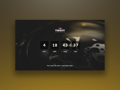 Daily Ui #014 - Countdown Timer app web ux ui numbers gear watch tissot 014 daily ui timer countdown