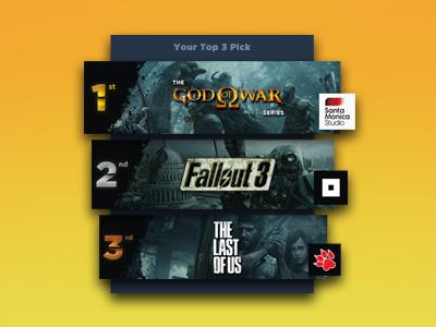 Daily Ui #019 - Leaderboard order kratos ui rank tab bar ranking list videogames games leaderboard 019 daily ui