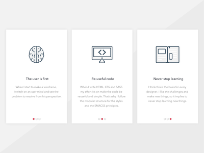 Skills Cards portfolio blue ui cards book brain code icons skills