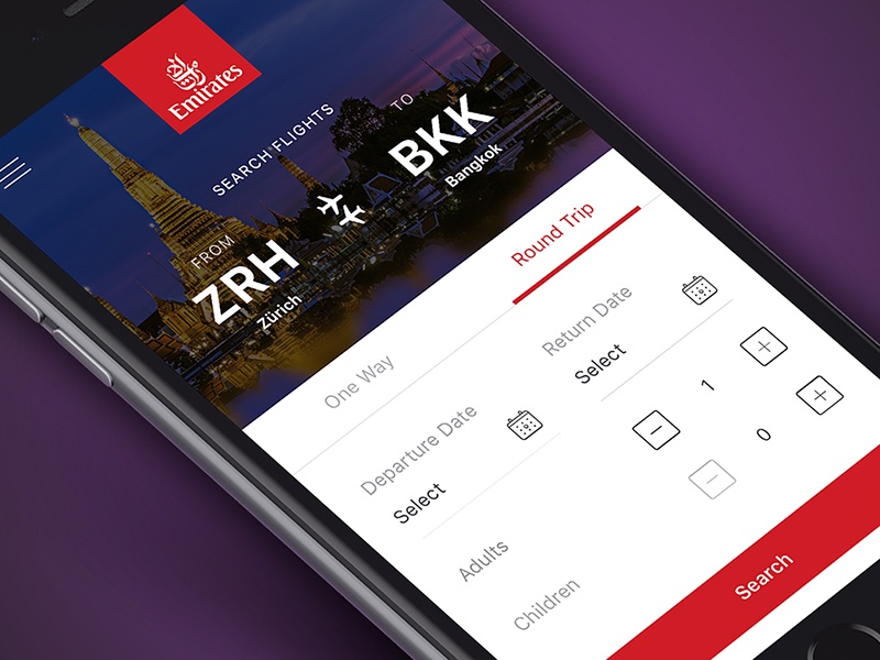 Emirates Flight Booking App