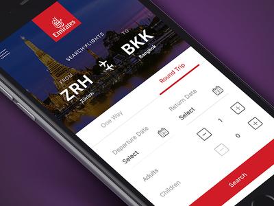 Emirates Flight Booking App