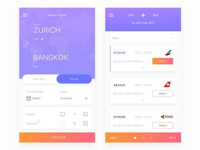 Flight Booking App flight search flight booking air box ui ios ticket travel flight
