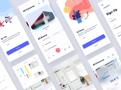Home Automation smart home dashboard nav menu vector iphonex iphone x minimal illustration app ux ui