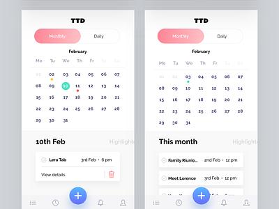 To Do List Freebie splash screen log in clean calendar app norde ux calendar to do list to do design app ui