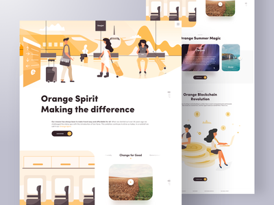 Traveling The World With Crypto character web design agency web design blockchain cryptocurrencies cryptocurrency crypto branding typography illustration clean landing web ux ui