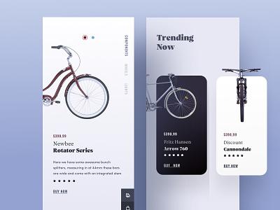 Product Description Page - Part 1 ios app bike card web design clean ux ux  ui identity e commerce shop ecommerce cart