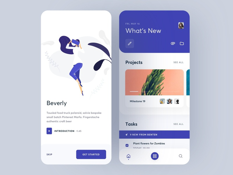 Task Management mobile splashpage splash page splash onboarding native swipe card vector illustration typography ios 11 ios 10 ios 12 task management task android ios ux ui