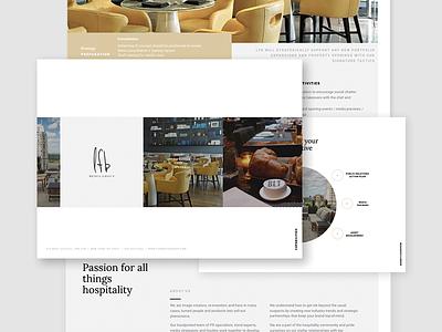 LFB Pitch Deck identity branding flyer typography type minimal print brochure layout