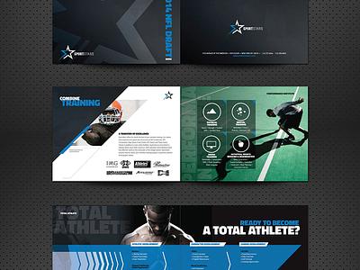 Sportstars Player Book sports identity branding flyer typography type minimal print brochure layout
